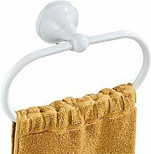 Flybath Ovaler Handtuchring Antik Messing