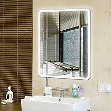 Flyelf Badspiegel LED,80x60cm Beleuchtung