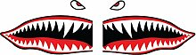 Flying Tiger Shark Zähne Aufkleber Aufkleber