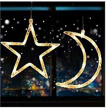FLYM LED Weihnachtsbeleuchtung Schnur Saugnapf