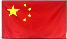flyorigin Flagge China Chinesisch flaggen 5 Fuß x