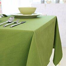 FLYRCX Einfache Baumwolle Verdickung grün Tischdecke Home TV-Schrank Staub- Tuch, 90 x 140 cm