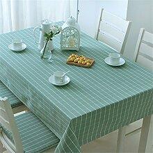 FLYRCX Einfache, moderne Lattice wasserdicht Tabelle Tabelle Tuch Tuch im Europäischen Stil, rechteckige Wohnzimmer TV-Schrank Staub- Tuch, 110 x 170 cm