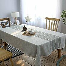 FLYRCX Einfache, moderne Streifen Tischdecke home Wohnzimmer TV-Schrank Staub Tuch, 130 x 230 cm