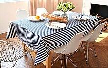 FLYRCX Europäischen Stil einfach gestreift Tischdecke TV-schrank Verdickung Tuch Staub Tuch, 100 x 100 cm, B