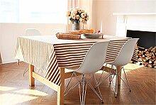 FLYRCX Europäischen Stil einfach gestreift Tischdecke TV-schrank Verdickung Tuch Staub Tuch, 100 x 100 cm, EIN