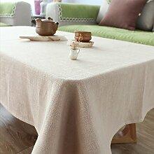 FLYRCX Gewaschen Leinentischdecken modern Grau mit Fransen, rechteckigen Tisch Schrank Staub Tuch, 130 x 230 cm, D