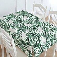 FLYRCX Grün Baumwolle verdickte Tisch Tischdecke Wohnzimmer TV-Schrank Staub Tuch, 100 x 140 cm, B