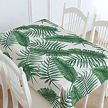 FLYRCX Grün Baumwolle verdickte Tisch Tischdecke Wohnzimmer TV-Schrank Staub Tuch, 140 x 220 cm, D