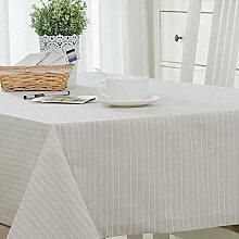 FLYRCX Moderne europäische Einfache gestreift Baumwollstoff Tisch Tischdecke TV-Schrank Staub Tuch, 130 x 240 cm, C