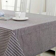 FLYRCX Moderne europäische Einfache gestreift Baumwollstoff Tisch Tischdecke TV-Schrank Staub Tuch, 130 x 190 cm, B