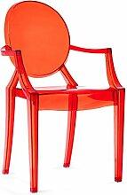 FLYSXP Nordic Kreative Transparente Armlehne Stuhl