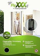 FlyXXX Insektenschutz Magnetischer Türvorhang weiß oder schwarz, (schwarz)