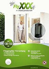 FlyXXX Insektenschutz Magnetischer Türvorhang weiß oder schwarz, (weiß)