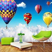 FLYYL Wandbild 3D Wandbild Luft Heißluftballon