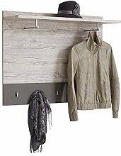 FMD Alan 5 Garderobenwandpaneel Holz, Sand Eiche/Lava