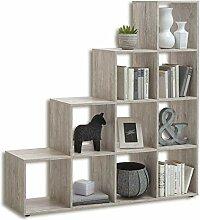 FMD furniture Treppenregal Raumteiler Bücherregal