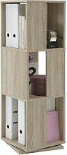 FMD Möbel 291-001 Drehregal Tower circa 34 x 108 x 34 cm, eiche