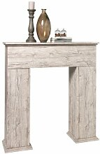 FMD Möbel 641-003 Kaminüberbau Holz, sandeiche, 110 x 28,5 x 117 cm