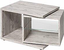 FMD Möbel 643-001 Beistelltisch Holz, sandeiche, 65 x 40 x 37,5 cm