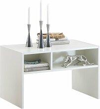 FMD Möbel 650-001 Beistelltisch Change, 47 x 70,5 x 40 cm, weiß