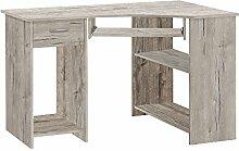 FMD Möbel Felix 1 Computertisch, Holz, sandeiche,