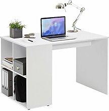 FMD Möbel Gent Schreibtisch, Holz, weiß, 117 x 73 x 75 cm
