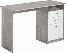 FMD Möbel Schreibtisch, 9.4x 56.4x 137.9cm