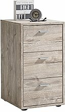 FMD Möbel Virginia 1 Nachtkonsole, Holz, sandeiche, 35 x 40 x 62.5 cm