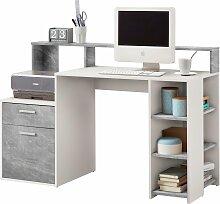 FMD Regal-Schreibtisch Bolton, mit 3 offenen