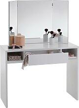FMD Schreibtisch Schminki Tischplatte: