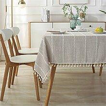 FMYAO bestickte Tischdecke, rechteckig, für