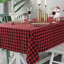 FMYAO Tischdecke für Weihnachten, Rot und