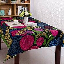 FMYAO Tischdecke mit abstraktem Druck, ethnischer