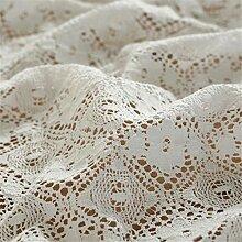 FMYAO Tischdecke mit Baumwollfaden, ländlich,