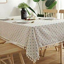 FMYAO Tischdecke mit Gänseblümchen-Motiv,
