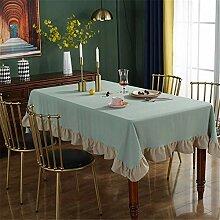FMYAO Tischdecke mit Lotus-Spitze, Retro-Design,