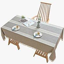 FMYAO Tischdecke mit Streifen, rechteckig, aus