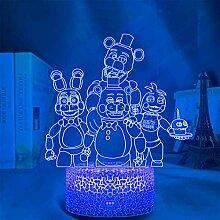 FNAF 3D-Illusion Lampe, FNAF Five Nights at