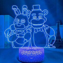 FNAF 3D-Illusion Lampe, FNAF Fünf Nächte