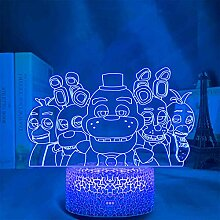 FNAF Action Figur 3D Optische Illusion Lampe, Five