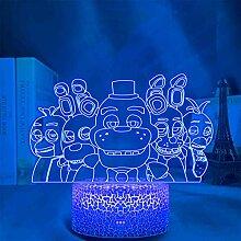FNAF LED-Nachtlicht, Farbwechsel, Nachtlicht,