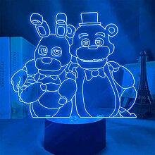 FNAF Nachtlichter, 3D-LED, Five Nights at Freddys