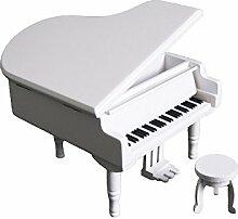 FnLy 18 Noten Retro Klavier-Spieluhr aus Holz,