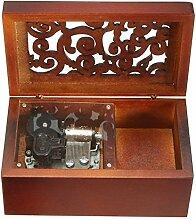 FnLy Musik-Box aus Holz, antiker Gravur, zum