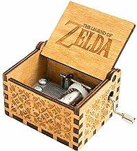 FnLy Musik-Box mit 18 Noten, aus Holz, mit Gravur