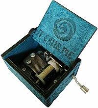FnLy Musik-Box mit 18 Noten aus Holz, mit Gravur