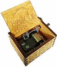 FnLy Musik-Box mit 18 Noten, Holz, mit Gravur