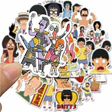 FNM vsco Aufkleber 50 STK. Cartoon Animation Bobs