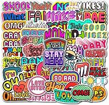 FNM vsco Stickers 50 pcs Cartoon English Phrase